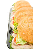 Giant Hoagie Sandwich Border Stock Photo