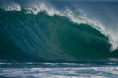 Giant hollow wave. Giant wave breaking on the north shore of oahu Royalty Free Stock Image