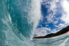 Giant hollow wave Stock Photography