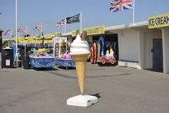 Giant ice cream cone advertisment. Littlehampton. UK Royalty Free Stock Photography