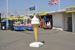 Giant ice cream cone advertisment. Littlehampton. UK Royalty Free Stock Photography