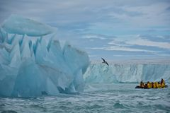 Giant Iceberg and Glacier in Nordaustlandet, Svalb Royalty Free Stock Images