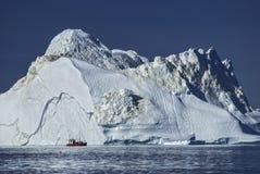 Giant Icebergs of Disko Bay Stock Images