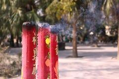 Giant incense at Lantau Stock Photo