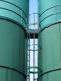 Giant industrial containers, silos Stock Images