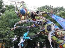 Giant insect cyborg stock video footage