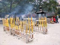 Giant insence stick. Temple in hongkong Po lin monastary Stock Photography