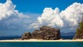 Giant Island Rock Formation Royalty Free Stock Photography