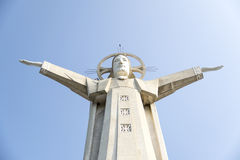 Giant Jesus status with opening arms Royalty Free Stock Photo