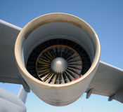 Giant jet engine Royalty Free Stock Photos
