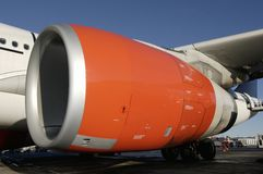Giant jet-engine. Large jet turbine, jet-engine at close-up Stock Photos