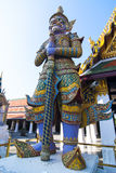 Giant keepers at Grand Palace. Giant keeper is a legend in Thai traditional folklore and culture. This giant statue is located at grand Palace. Grand palace is Royalty Free Stock Image