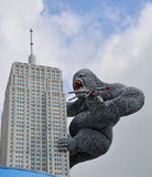 Giant King Kong on Empire State Building Stock Images