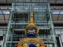 Giant king. At Suvanabhumi airport Thailand Royalty Free Stock Photography