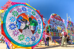 Giant kite festival, All Saints' Day, Guatemala Royalty Free Stock Photography
