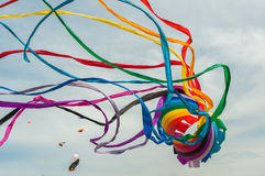 Giant kite. Rainbow giant kite big fly colorful Royalty Free Stock Photos