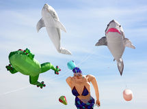 Giant Kites Royalty Free Stock Images