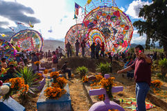 Giant kites in cemetery, All Saints' Day, Guatemala Stock Images