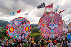 Giant kites in cemetery, All Saints' Day, Guatemala Royalty Free Stock Photo