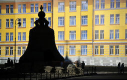 Giant Kremlin Bell in Moscow, Russia. The Tsar Bell, damaged during use, now sits like a monument on the grounds of the Kremlin in Moscow, Russia Stock Photography