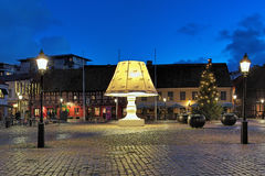 The Giant Lamp on the Lilla Torg Square of Malmo, Sweden Stock Images