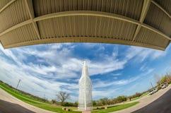 Giant landmark of a soda pops monument in arcadia oklahoma Royalty Free Stock Photography