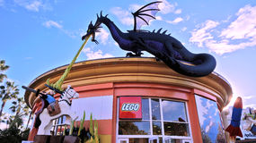 Giant Lego Dragon Royalty Free Stock Image