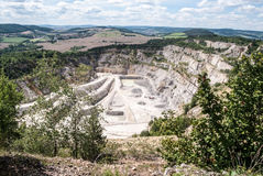 Giant limestone quarry Stock Images