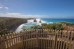 Giant limestone stacks, Gog and Magog. Gibson Steps, Great Ocean Road Stock Image