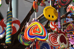 Giant lollipop. Hanged on the tree Stock Photography
