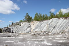 The giant marble cut. In the Italian`s career in Russia. Minerals Stock Photo