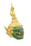Giant mask in Khon Thai classical style of Ramayana Story Royalty Free Stock Photo