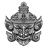 Giant mask of Thailand Travel. illustration  on white background. Vector Royalty Free Stock Image