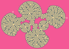 Giant Maze Puzzle Royalty Free Stock Images