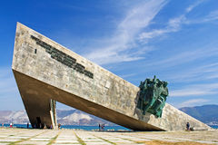 Memorial Malaya Zemlya in Novorossiysk. Russia. This giant memorial commemorates the landing in this area by Red Army marines in February 1943 and their defence Royalty Free Stock Images