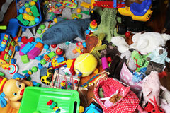 Giant mess in child's room Stock Photo