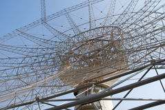 Giant Meter-wave Radio Telescope, GMRT, India. Royalty Free Stock Images