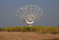 Giant Meter-wave Radio Telescope, GMRT, India. Royalty Free Stock Photography