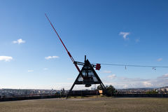 Giant metronome in the Letna park in Prague royalty free stock photography
