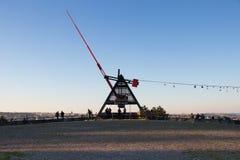 Giant metronome in the Letna park in Prague Stock Photo