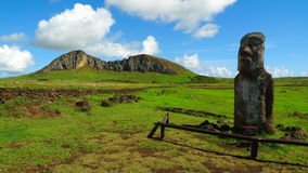 Giant Moai of Easter Island Royalty Free Stock Images