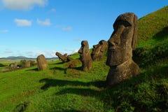 Giant Moai of Easter Island Royalty Free Stock Photos