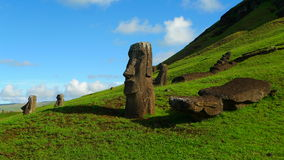 Giant Moai of Easter Island Stock Images