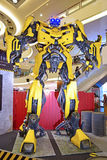 Giant model of Bumblebee from Transformers Stock Images