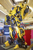 Giant model of Bumblebee from Transformers Royalty Free Stock Photography