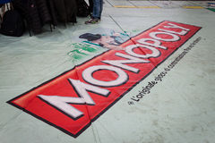 Giant Monopoly game at Festival del Fumetto convention in Milan, Italy Stock Images