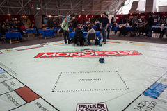 Giant Monopoly game at Festival del Fumetto convention in Milan, Italy Stock Photography