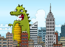 Giant Monster Rampage Stock Images