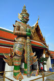 Giant Mosaic Guards at the Grand Palace stock photography