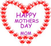 Giant mothers day heart Royalty Free Stock Photo